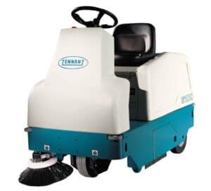 used tennant 6100 B ride on sweeper